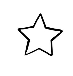 star icon rating symbol for web design vector image