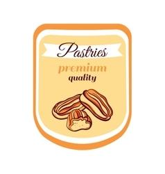 Sticker Pastries Premium Quality vector