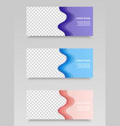 trendy horizontal web banners vector image