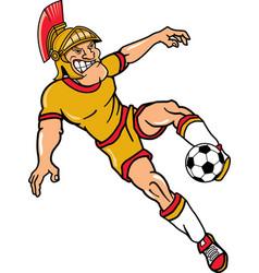 Trojan sports logo mascot soccer vector