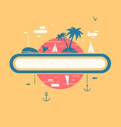 tropical vacation symbol vector image