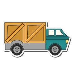 truck transportation delivery design vector image