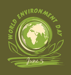 world environment day logo design 5 june vector image