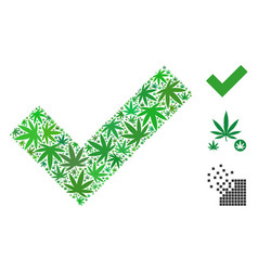 Yes composition of hemp leaves vector
