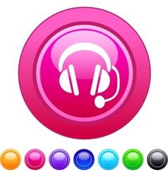 Call center circle button vector image vector image