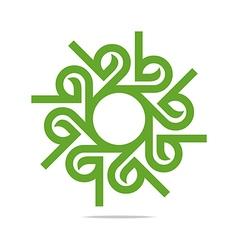 design go green garden plants circle icon vector image vector image