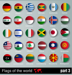 Flags of all countries vector image