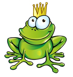 funny frog prince vector image vector image