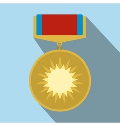 Medal of valor flat icon vector image