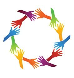 Team Hand Shake logo vector image vector image