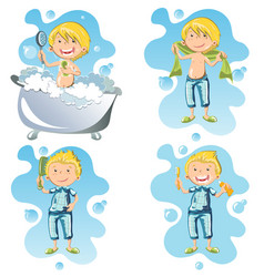 a person doing hygiene vector image