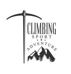 climbing sport adventure mountain hiking vector image vector image