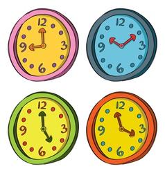 Clocks Color Set vector image vector image