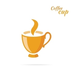 Coffee Cup Logo Design Flat Isolated vector image vector image