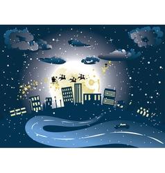 Santa Claus Coming to City7 vector image