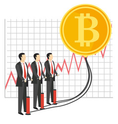 bitcoin growth concept vector image vector image