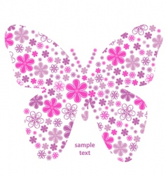 butterfly flower texture vector image