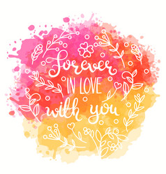 forever in love with you text vector image vector image