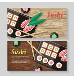 Japanese Food web Banner Japan Sushi vector image