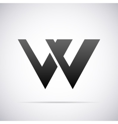 logo for letter W Design template vector image vector image