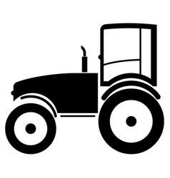 tractor the black color icon vector image vector image