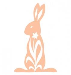 vintage rabbit standing vector image vector image