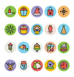 Christmas Icons 4 vector image vector image