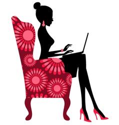 fashion blogger vector image vector image