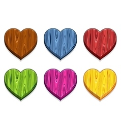 Funny cartoon colored Wooden heart vector image
