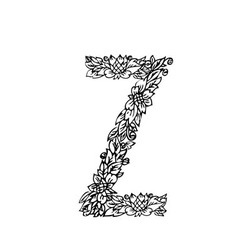 letters floral z vector image vector image