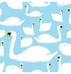 swan on the watter pattern eps10 vector image vector image