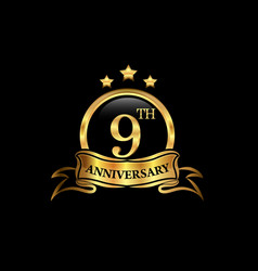 9 year anniversary celebration anniversary vector