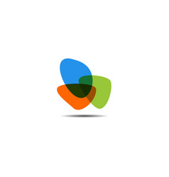 Abstract colorful icon element vector