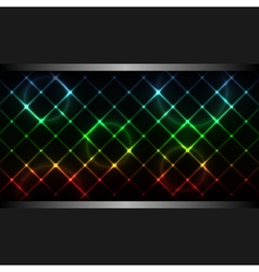 Abstract neon business background vector