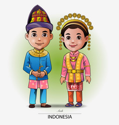 Aceh traditional clothing vector