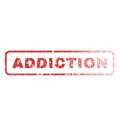 addiction rubber stamp vector image