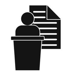 Admin speaker icon simple style vector