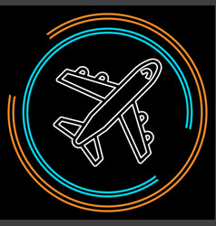 airplane icon - travel icon - fly vector image
