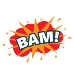 BAM wording sound effect set vector image