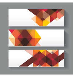 Banners with bright geometrical abstract lines vector