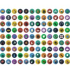 Big set of circle flat design icons Big set of vector image