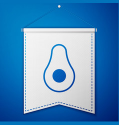Blue avocado fruit icon isolated on vector
