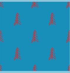 blue red abstract simple tree seamless repeat vector image