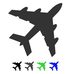 Bomber flat icon vector