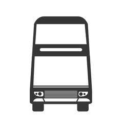 Bus vehicle transport service theme design vector image