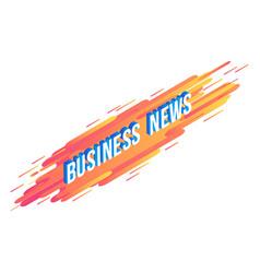 business news isometric text design - volumetric vector image