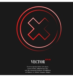 cancel Flat modern web button and space for your vector image
