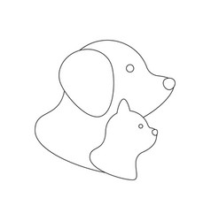 cat and dog icon vector image