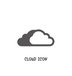 cloud icon simple flat style vector image