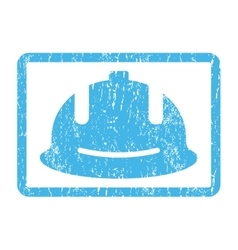 Construction Helmet Icon Rubber Stamp vector